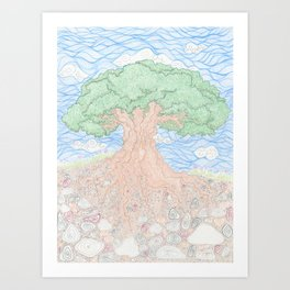 Roots and Leaves Art Print