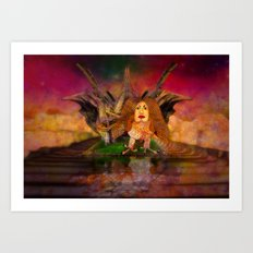 Wisdom only spreads its wings when souls true light begins to sing Art Print