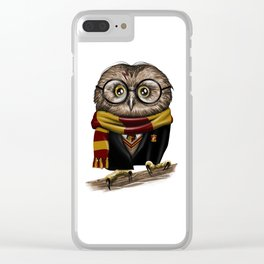 Owly Wizard Clear iPhone Case