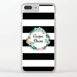 Carpe Diem Clear iPhone Case