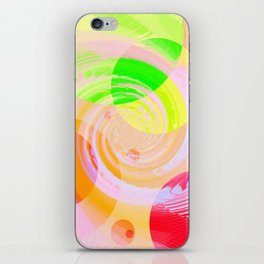 Re-Created Twisters No. 9 by Robert S. Lee iPhone Skin