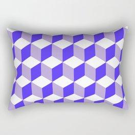 Diamond Repeating Pattern In Nebulas Blue and Grey Rectangular Pillow
