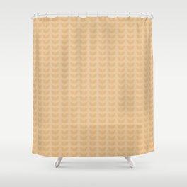 Light orange leaves Shower Curtain