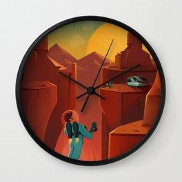 DISCOVER MARS - Valles Marineris | Space | X | Canyon | Retro | Vintage | Futurism | Sci-Fi Wall Clock