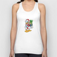 donald duck Tank Tops featuring Donald Duck with christmas gifts by Yuliya L