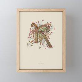Celtic Initial R Framed Mini Art Print
