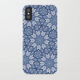 Nine Fold pattern blue iPhone Case
