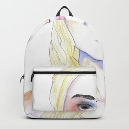 Female portrait inspired by Mother of Dragons medieval character Backpack