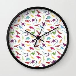 Watercolour Dinosaurs Wall Clock