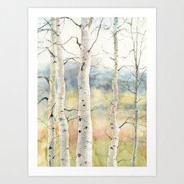 Tender Birch Forest Art Print