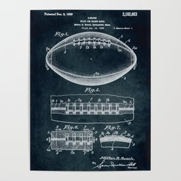 1938 Play or game ball patent art Poster