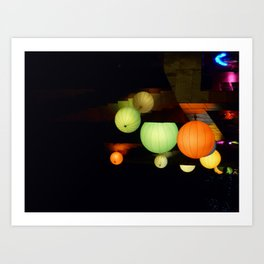 Colours in the night Art Print
