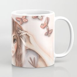 Paper Butterflies with girl Coffee Mug