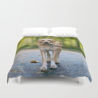 mickey Duvet Covers featuring MICKEY by Jen Grantham Photography