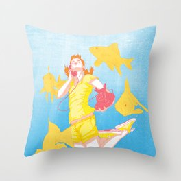 Gingers Have No Soles Throw Pillow