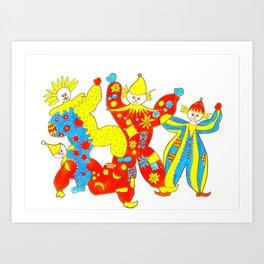 Clowning Around (2) Art Print