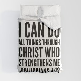 I CAN DO ALL THINGS THROUGH CHRIST WHO STRENGTHENS ME PHILIPPIANS 4:13 Comforters