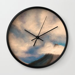 Clouds and Mountains Wall Clock