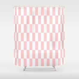 Pink Blocks pattern Shower Curtain