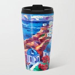 Santorini churches Travel Mug