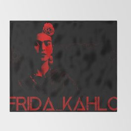 Frida Kahlo (Ver 5) Throw Blanket