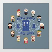 wall clock Canvas Prints featuring Doctor Who Wall Clock by Cloudsfactory