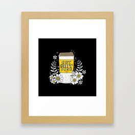 Drink Coffee, Get Shit Done Framed Art Print