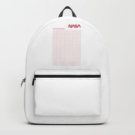 Red Graph Paper Backpack