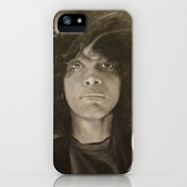 Erykah Badu in Charcoal iPhone Case
