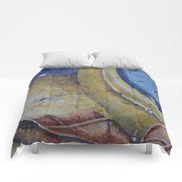 Clock Time with leaf Illustration Comforters