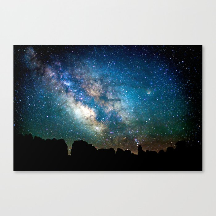 The Milky Way Mountains Canvas Print