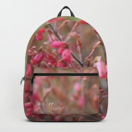 Blooming shrub hot pink flowers Backpack