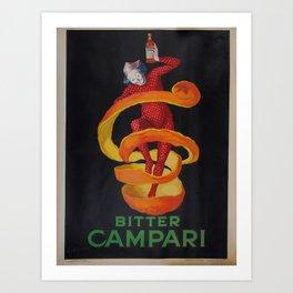 Vintage poster - Bitter Campari Art Print