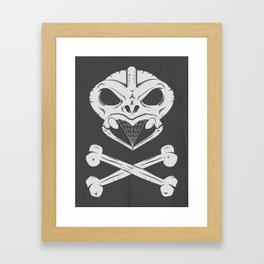 Skull and crossbones tiki Framed Art Print