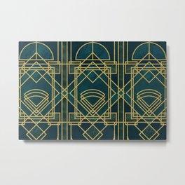 Art Deco Elegant Gatsby Style Metal Print