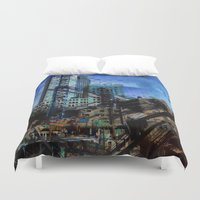 montreal Duvet Covers featuring Montreal urbania by Jean-François Dupuis