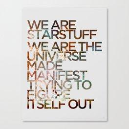 WE ARE STARSTUFF Canvas Print