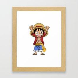 Monkey D. Luffy Framed Art Print