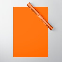 Solid Orange Wrapping Paper