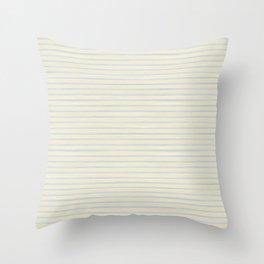Striped Yellow Blue Scrapbook Sherbert Throw Pillow