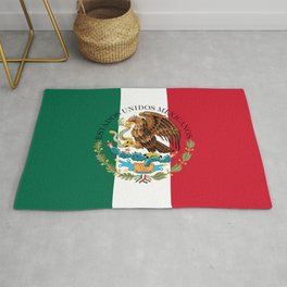 Flag of Mexico with Coat of Arms (augmented scale) Rug