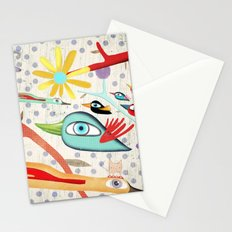 Cat and Birds Illustration 2016 Stationery Cards
