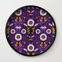 Art Nouveau daisies  Wall Clock