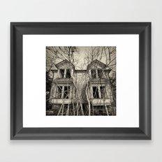 Overgrown Symmetry Framed Art Print