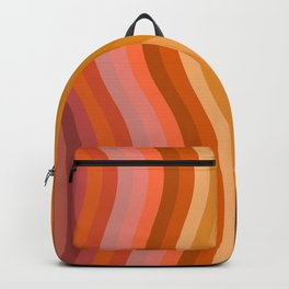 Groovy Wavy Lines in Retro 70s Colors Backpack
