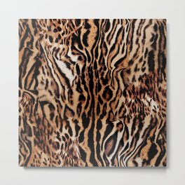 Tiger Power Metal Print