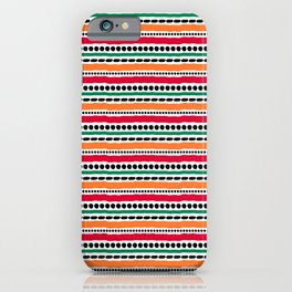 Lines and Dots 3 iPhone Case