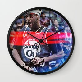 """""""KING JAMES NOT WITH THE SHXTS"""" Wall Clock"""