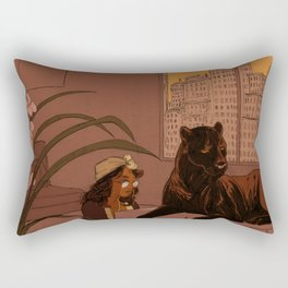 Kitty On Keys Rectangular Pillow