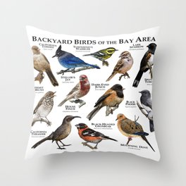 Backyard Bird of the Bay Area Throw Pillow
